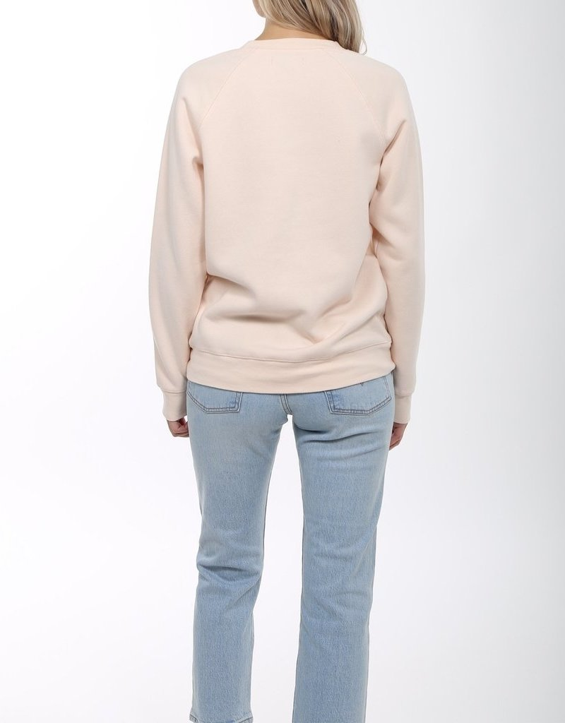 Brunette the Label BTL - Blonde Sweatshirt in Peach