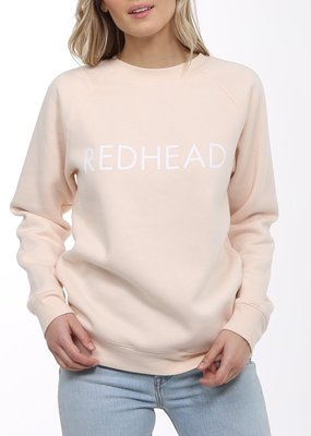 Brunette the Label BTL - Redhead Sweartshirt in Peach