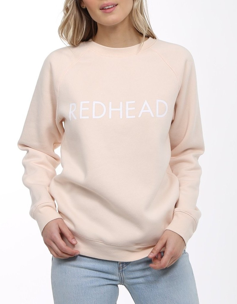 Brunette the Label BTL - Redhead Sweartshirt in Peach