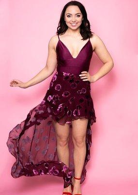 For Love and Lemons For Love and Lemons - Sophie Velvet Floral Skirt