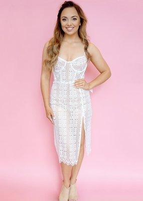 For Love and Lemons For Love and Lemons - Dakota Lace Midi Dress