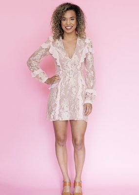 For Love and Lemons For Love and Lemons - Bumble Long Sleeve Ruffle Dress *More Colours*