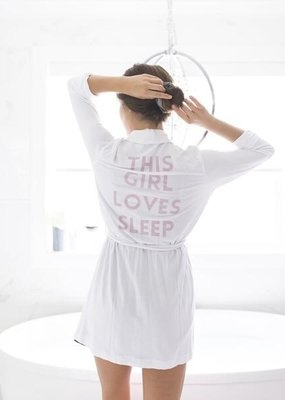 Privilege This Girl Loves Sleep Robe