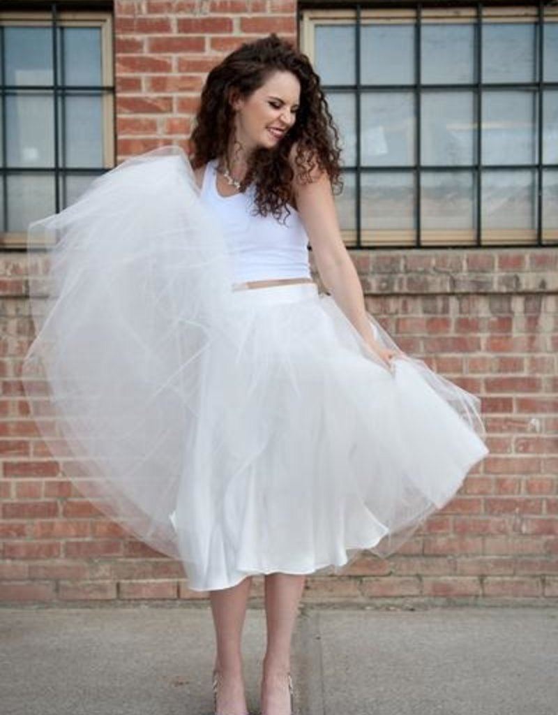 Space46 Tulle Skirt - White