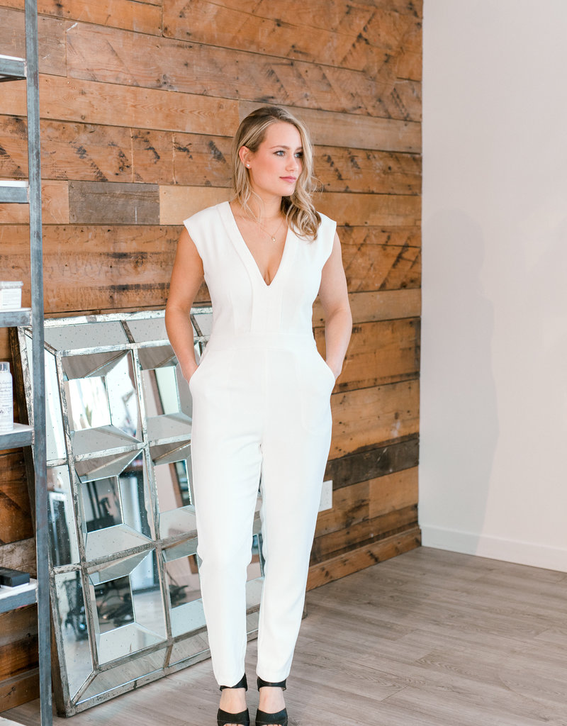 Adelyn Rae Shae Woven Jumpsuit