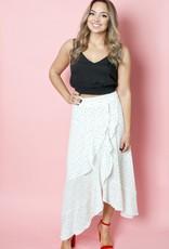 Shilla Ivy Black and White Polkadot Skirt