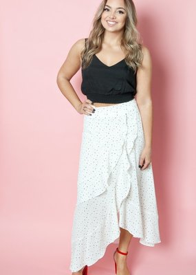 Shilla Ivy Black and White Polkadot Skirt