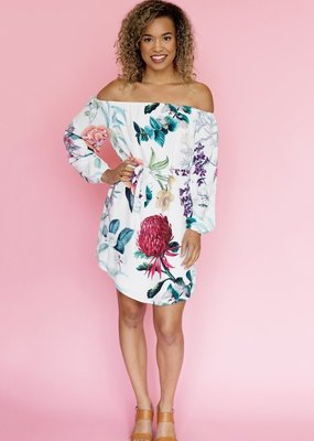 Shilla Skye Printed Off-the-Shoulder Dress