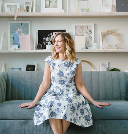Gal Meets Glam Gal Meets Glam - Virginia Floral Fit and Flare Dress