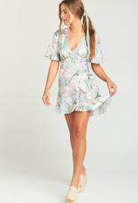 Show Me Your Mumu Evelyn Mini Wrap Dress Primavera Flora