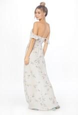 Flynn Skye Flynn Skye - Bardot Maxi Dress in Vintage Drama