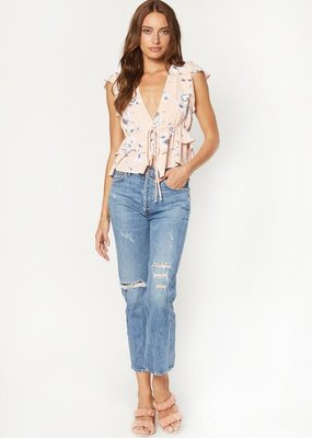 Flynn Skye Flynn Skye - Cecelia Ruffle Top in Evening Bouquet