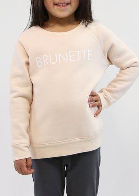"Brunette the Label Little Babes Crewneck Sweatshirt ""Brunette"" Peach Crush"