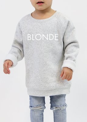 "Brunette the Label Brunette the Label - Little Babes Crewneck Sweatshirt ""Blonde"" Pebble Grey"