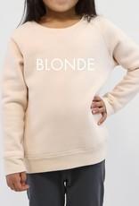 "Brunette the Label Little Babes Crewneck Sweatshirt ""Blonde"" Peach Crush"