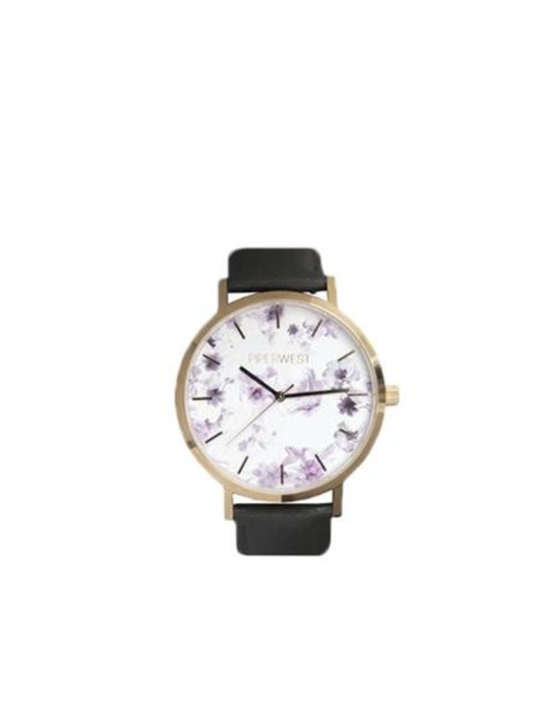 Piper West Piperwest Floral Minimalist Watch