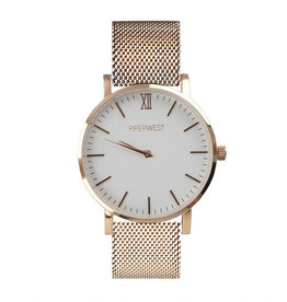 Piper West Piperwest Mesh Minimalist in Rose Gold