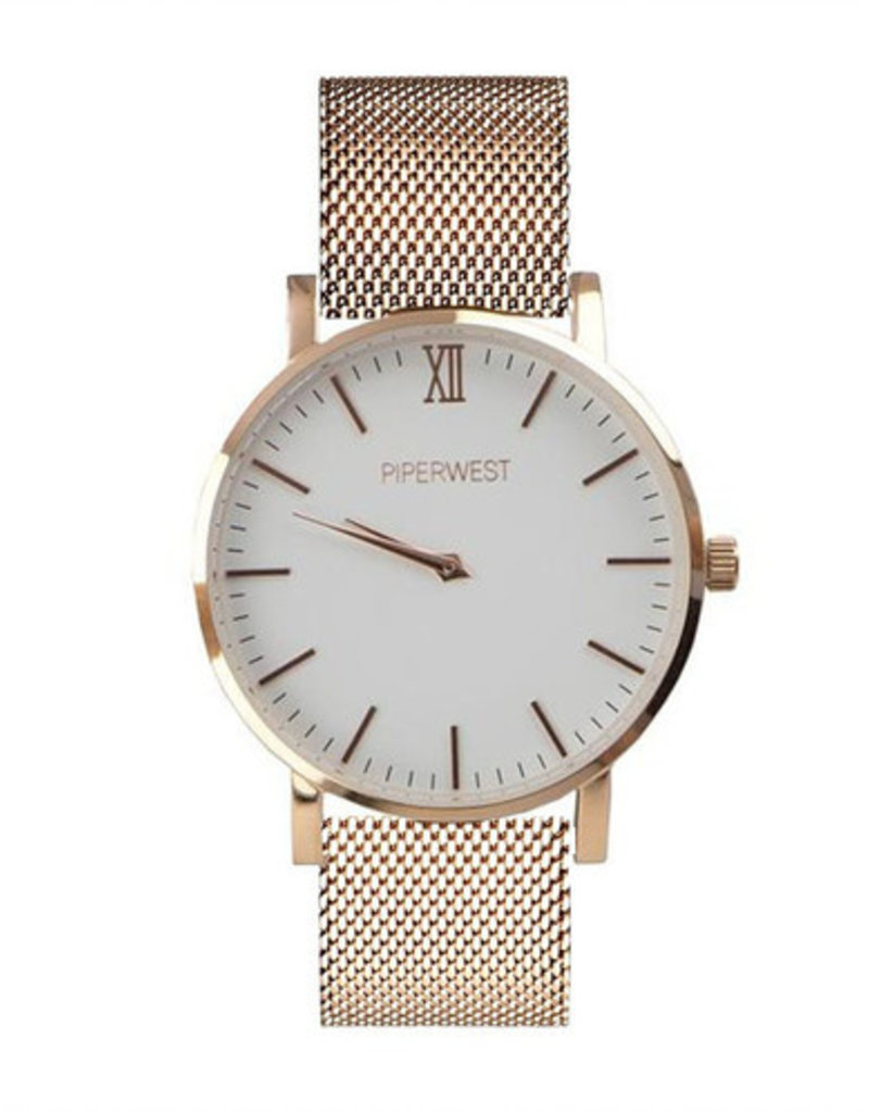 Piperwest Piperwest Mesh Minimalist in Rose Gold