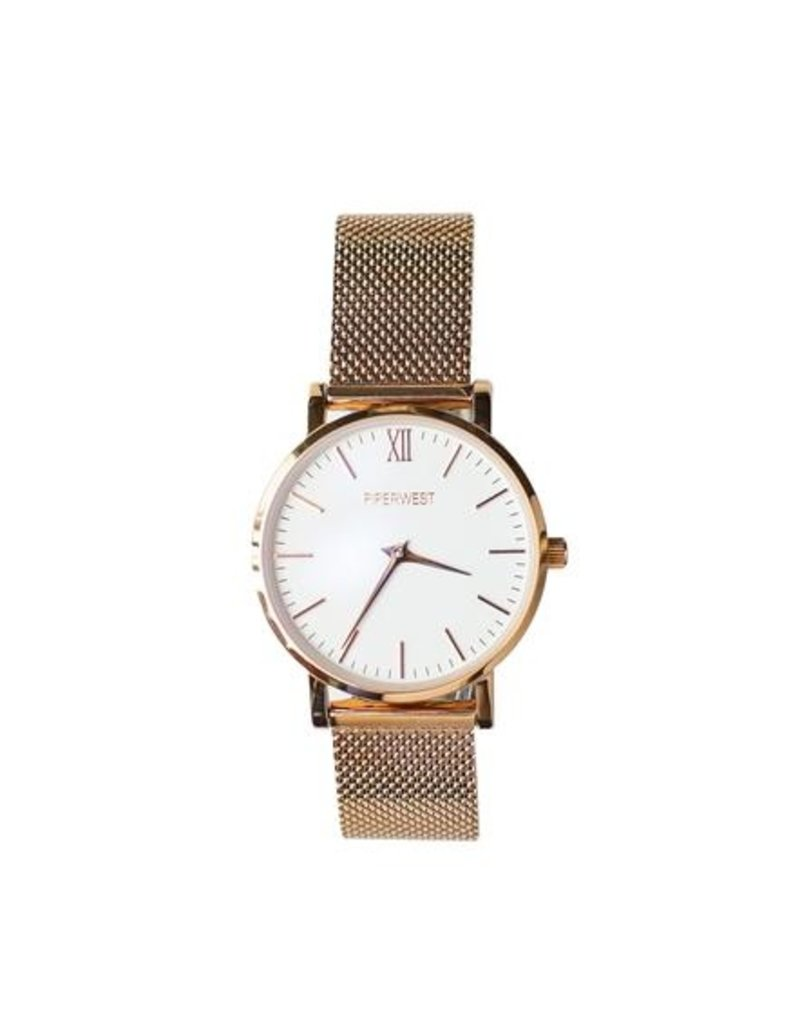Piperwest Piperwest Mini Mesh Minimalist in Rose Gold