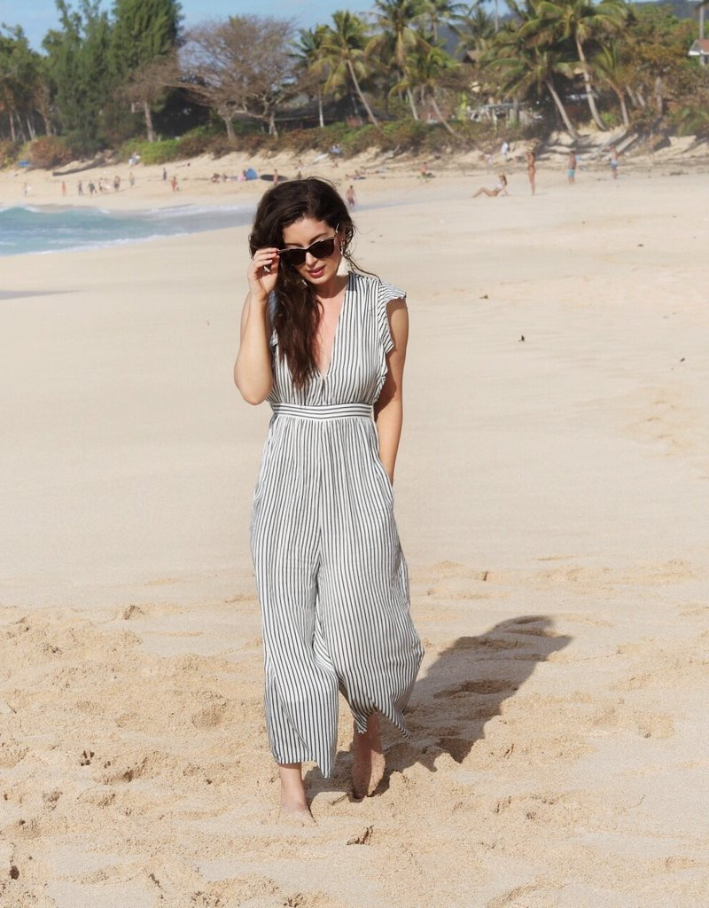 Saltwater Luxe Cece Striped Jumpsuit