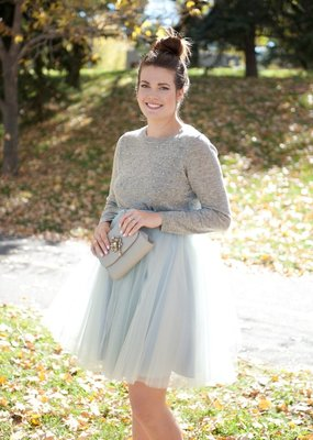 Space46 Tulle Skirt - Blue Grey