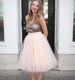 Space46 Tulle Skirt - Blush Pink