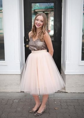 Space46 Tulle Skirt - Blush Pink