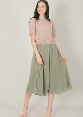 Space46 Kelly Midi Skirt - Sage Green