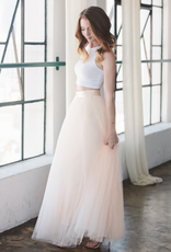 Space46 Full Tulle Maxi Skirt - Blush Pink