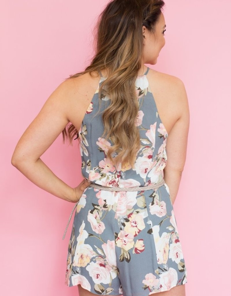 Privacy Please Lucy Floral Romper - Small