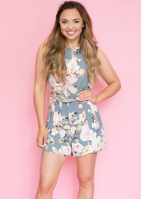 Privacy Please Lucca Floral Romper - Small