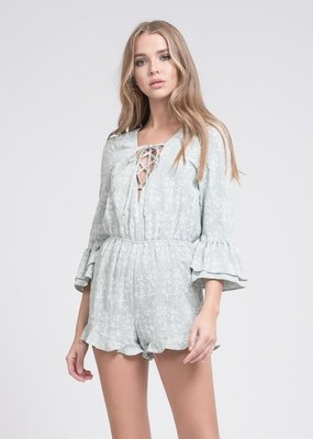 JOA Rayna Lace-Up Romper
