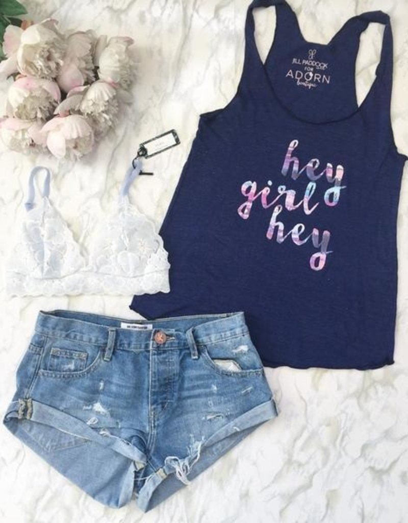 "Adorn Collection Adorn Collection ""Hey Girl"" Tank"
