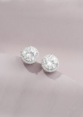 Olive & Piper Olive + Piper - Halo Solitaire Studs