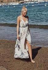 The JetSet Diaries The Jetset Diaries - Wild Flower Wrap Maxi Dress