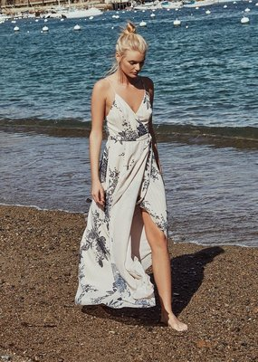 The JetSet Diaries The Jetset Diaries - Wild Flower Wrap Maxi Dress