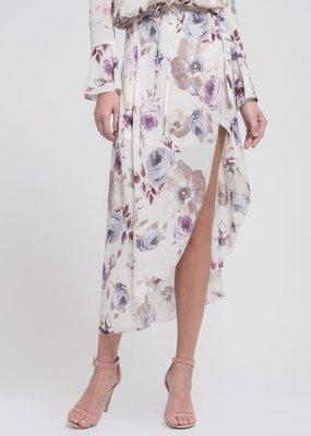 JOA Mia High-Low Wrap Skirt