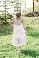 ASTR Bristol Blush Floral Ruffle Dress