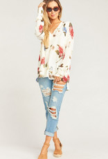 Show Me Your Mumu Show Me Your Mumu - Cliffside Distressed Sweater Florence Floral Knit