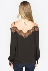 Sugarlips Alesia Lace Trim Blouse
