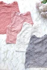 Sewn Designs *New* Sewn Designs - Dark Pink Lace Crop Top