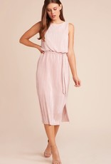 BB Dakota Midi Mauve Rose Pleated Dress