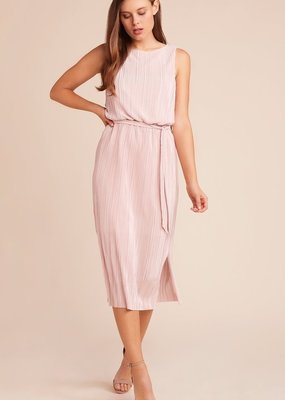 BB Dakota Midi Mauve Rose Pleated Dress