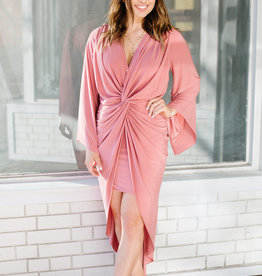 MISA Misa Los Angeles - Teget Long Sleeve Maxi Dress