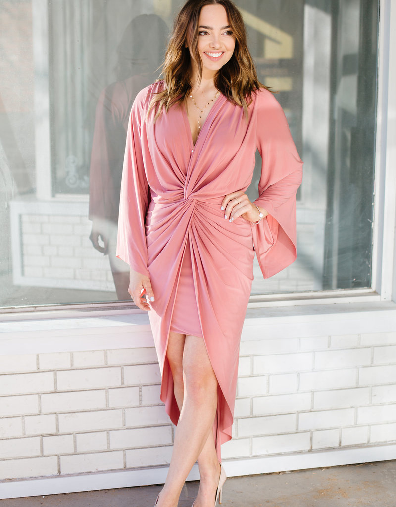MISA Misa Los Angeles - Teget Long Sleeve Maxi Dress