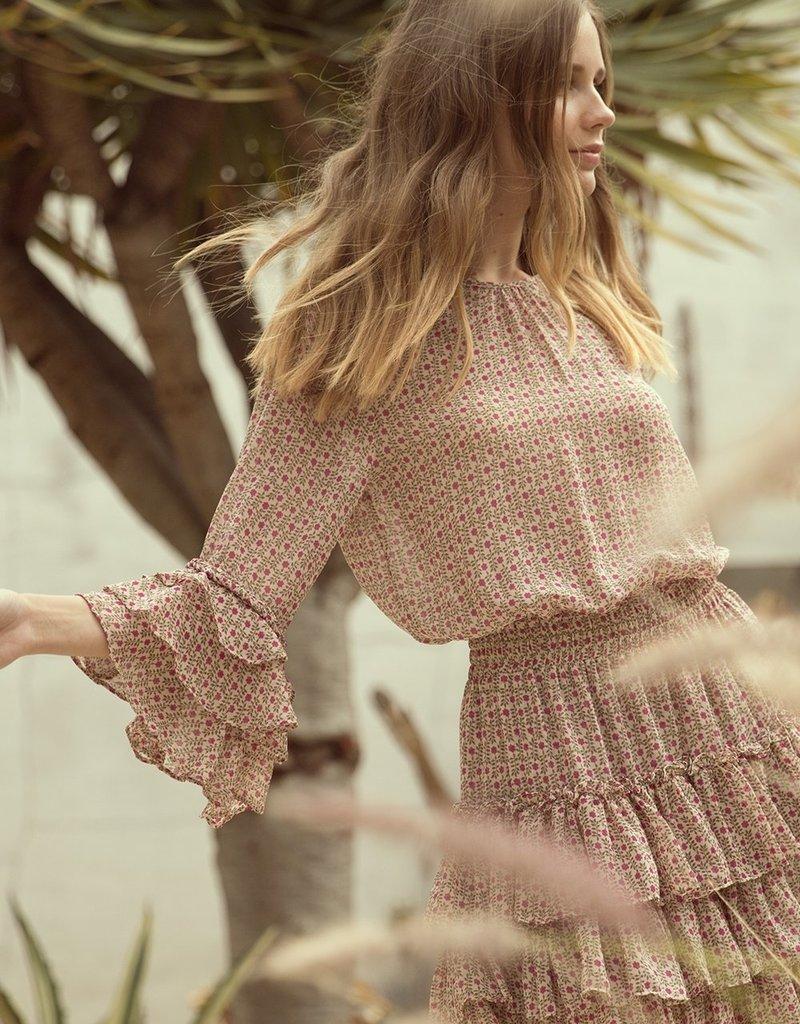 MISA Bernita Ruffled Mini Dress