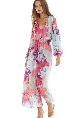MISA Misa Los Angeles - Amata Floral Watercolour Dress
