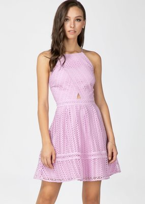 Adelyn Rae Kyra Fit and Flare Lace Dress