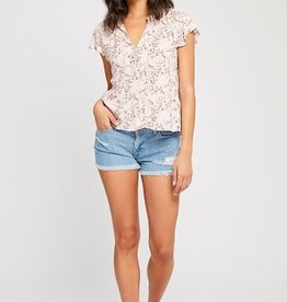 Gentle Fawn Gentle Fawn - Cameron Flutter Sleeve Blouse *More Colours*