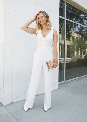 Cupcakes And Cashmere Topeka White Jumpsuit